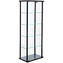 Coaster Contemporary Black Curio Cabinet