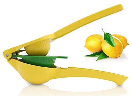 Zitronenpresse   Limettenpresse   Orangenpresse   Manuelle Entsafter Presse aus Aluminium   Handpresse gelb grün