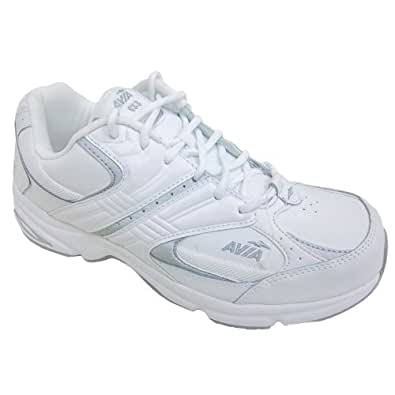 Avia A633w Womens White Comfort Athletic Lace up Walking Shoe (11 W)