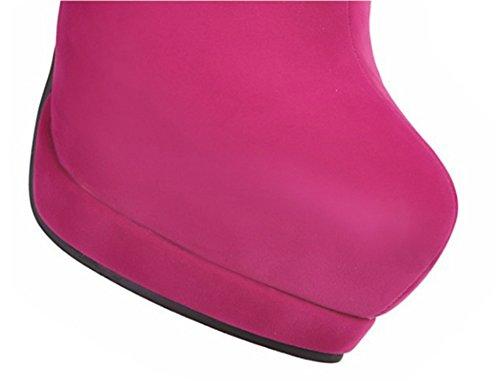 XZ Short Boots Female Sexy Slim high Heel Martin Boots Boots Pink KvIKL6es