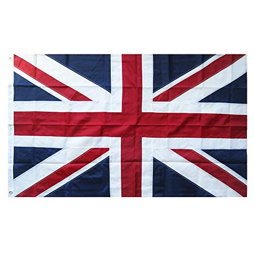 (Lixure UK Flag 3x5FT United Kingdom British Flag-Embroidered Sewn Stripes National Flags-4 Rows Lock Stitching Flags 3x5 Foot Brass Grommets 210D Nylon Banner)