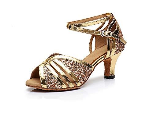 super popular 57b04 c10ce Latine De Danse Paillettes Fond Bouche Femmes Intérieure Poisson D or Mode  8 Doux 3cm Chaussures ...