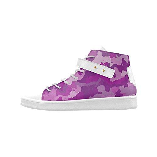 D-verhaal Ronde Neus Hoge Schoenen Camouflage Paars Dames Sneakers