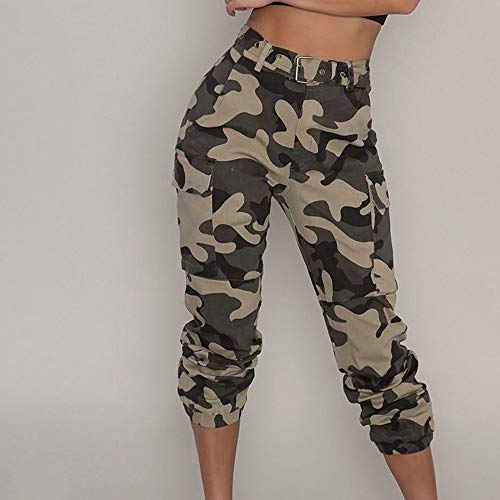 Extrieures Sports Haute Pantalons Vtements Outdoor Femmes de Camouflage Slim Chic Combat Militaire Cargo Casual Jeans Kaki Jogging Occasionnels Taille Trousers ngxq7Spq