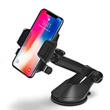 Spigen Kuel AP12T OneTap Car Phone Mount Universal Car Phone Holder With OneTap Technology for iPhone X / 8 / 8 Plus / 7 / 7 Plus / Galaxy S9 / S9 Plus / S8 / S8 Plus / Note 8 and More - Black