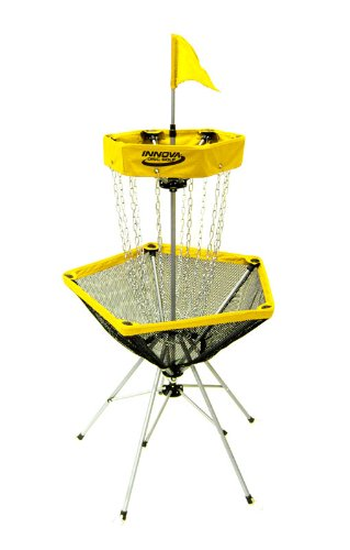 Innova DISCatcher Traveler Target - Portable, Lightweight Disc Golf Basket, Colors May Vary, Yellow
