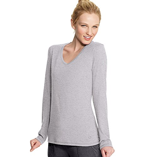Champion Authentic Women's Jersey Long Sleeve T-Shirt_Oxford Grey_M
