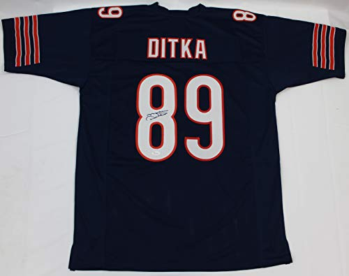 Ditka Mike Signed Hand - Mike Ditka Autographed Blue Chicago Bears Jersey - Hand Signed By Mike Ditka and Certified Authentic by JSA - Includes Certificate of Authenticity