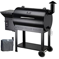 Z GRILLS Wood Pellet Grills & Smoker 700sq in 6-1 BBQ Grill with Electric Digital Controls for Outdoor Backyard-Bundle(Patio Cover) from epic Z GRILLS