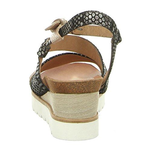 Mjus 221022-0601-6002 - Sandalias de vestir para mujer argento/nero/argento