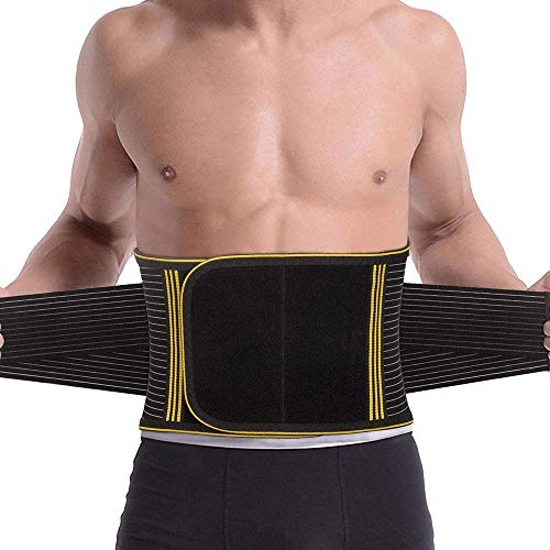 SZ-Climax Back Brace Lumbar Support Belt Waist Backbrace for Back Pain Relief, Sciatica, Scoliosis and Herniated Disc Compression Belt for Men and Women with Detachable Spring Strip - XXL