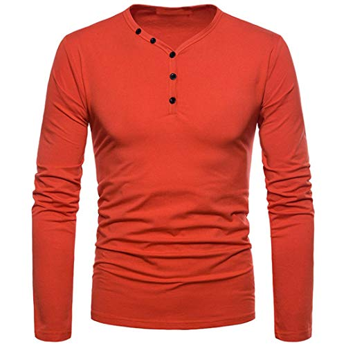 Color T Slim manica Tops Blouse shirt Pure Man Aimee7 lunga Top Rosso Casual UqfZznfY