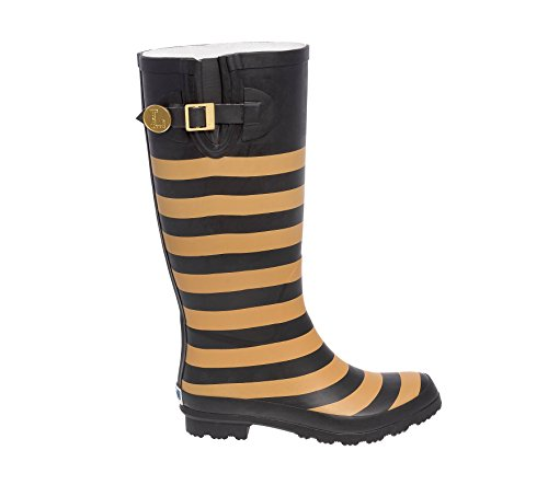 Black and Vegas Gold Rainboots Initial M eSa3er9KM