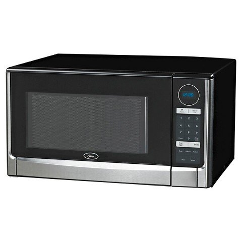 Oster 1.6 Cu. Ft. 1100 watt Digital Microwave Oven-Black & Stainless Steel
