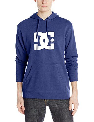 DC Men's Star Pullover Hoodie Sweatshirt, Campanula/Snow White, 2XL