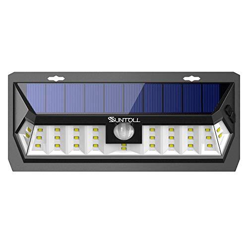 SUNTOLL Solar Lights Outdoor, Super Bright White Motion Sensor Solar Light, 30 LED Security Outdoor Solar Light, Wireless Waterproof Wall Light for Front Door, Garden, Garage, Yard, Patio(1 Pack)