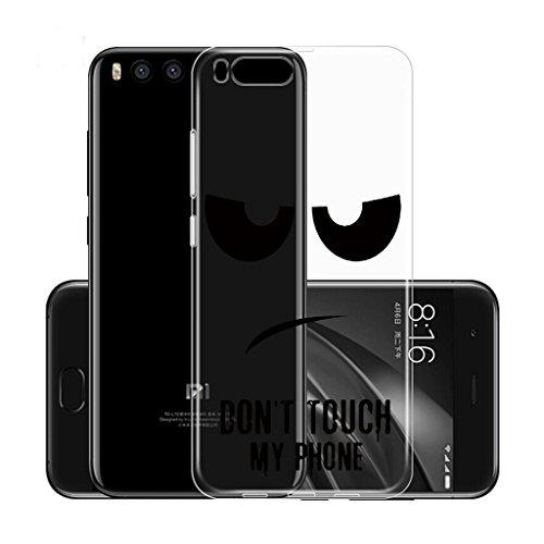 Funda para Xiaomi Mi Note 3 (No aplicable a Xiaomi Redmi Note 3) , IJIA Transparente Muchacha Romántica Falda Colorida Mariposa TPU Silicona Suave Cover Tapa Caso Parachoques Carcasa Cubierta para Xia DUO5