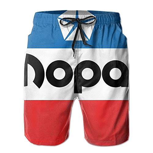 Mopar Short - Mopar Logo Mens Swim Boardshorts Beach Shorts Swim Trunks Casual Beach Shorts White