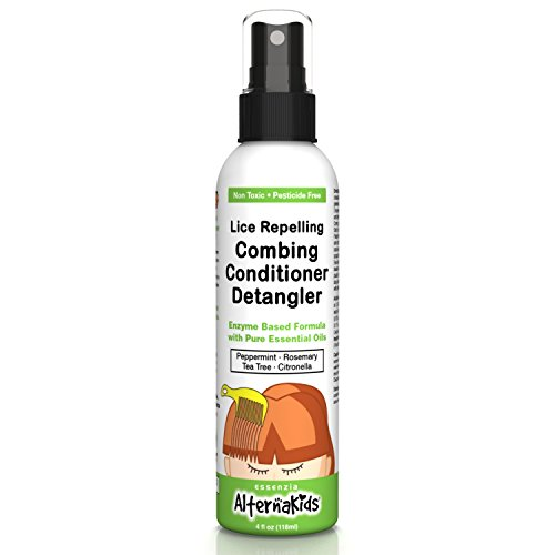 Natural Head Lice Detangler Conditioner by AlternaKids - Non-Toxic Hair Spray Treatment That Kills, Removes, Prevents Super Lice and Nits | for Kids and Adults (4 oz ()