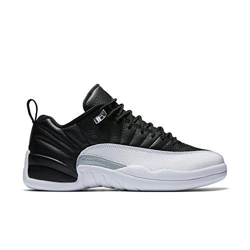 Jordan Men Air Jordan 12 Retro Low (black / varsity red-white-metallic silver) Size 9.5 US (Air Jordan Low Shoes)