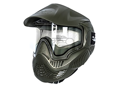 Olive Paintball Mask (Valken Paintball MI-7 Goggle/Mask with Dual Pane Thermal Lens - Olive)