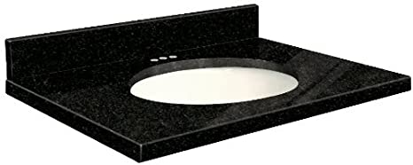 Biscuit Samson ITB3122-08-1 Solid Surface 31x22 Chelsea Vanity Top with Integral Bowl and 1-Hole Eased Edge