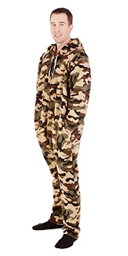 Forever Lazy Adult Onesie - Green Comatose Camo - S
