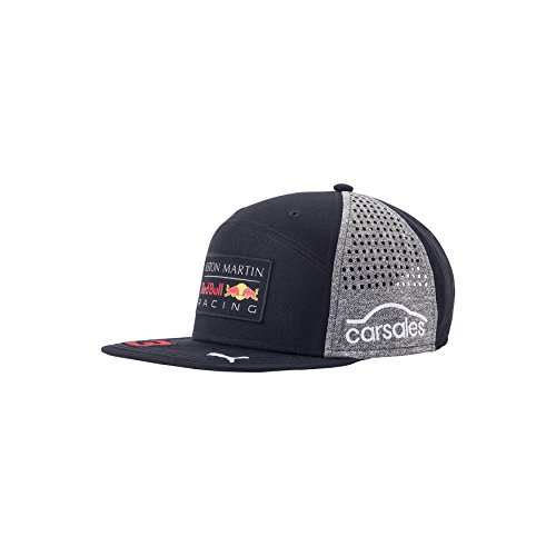 Red Bull Formula 1 Racing 2018 Aston Martin Daniel Ricciardo Flatbrim Team Hat - Team Red Bull Racing