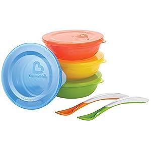 Munchkin Bols avec Couvercles et Cuillères Multicolore - Lot de 10