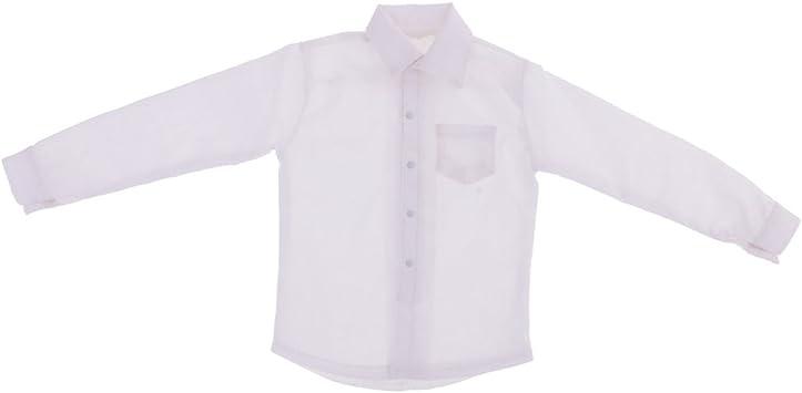 Amazon.es: sharprepublic Camisa De Vestir De Manga Larga 1/6 ...