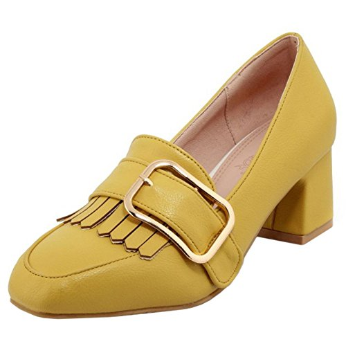 Bloc Chaussures Femmes jaune Talon Zanpa Moyen Brogue 1 qRtxwwEC