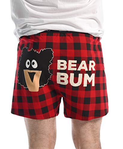 Sawing Logs Soft Comical Boxers for Men by LazyOne | Animal Pun Joke Underwear for Guys (Large)