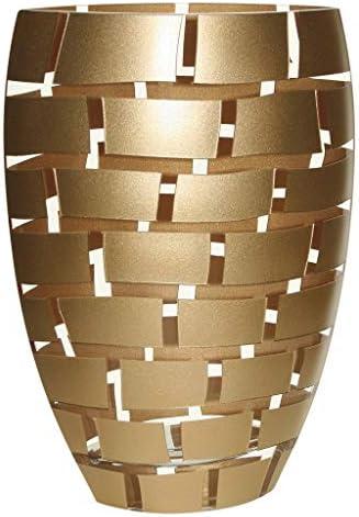 Gold Wall Design European Mouth Blown 12 Glass Vase