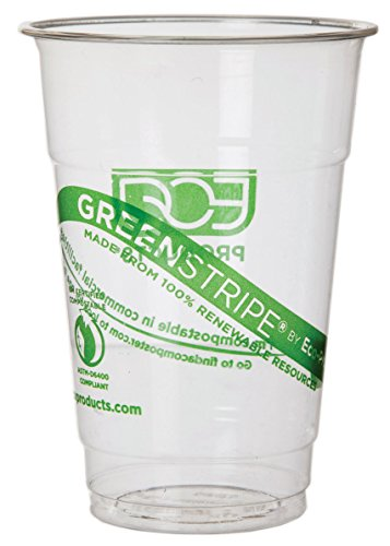 Eco-Products GreenStripe Renewable & Compostable Cold Cups, 10-Ounce, Case of 1000 (EP-CC10-GS)