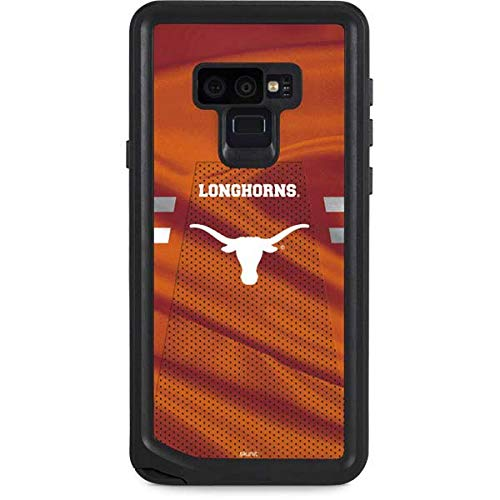 Skinit University of Texas at Austin Galaxy Note 9 Waterproof Case - Texas Longhorns Jersey Design - Sweat-Proof, Snow-Proof, Dirt-Proof, Dust-Proof Phone Cover ()