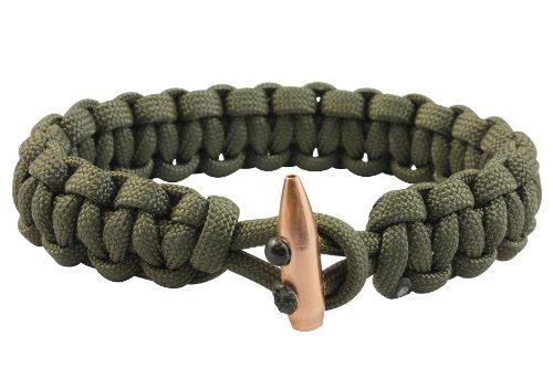 Bison Designs Single Shot Paracord Bracelet, Dark Olive, -