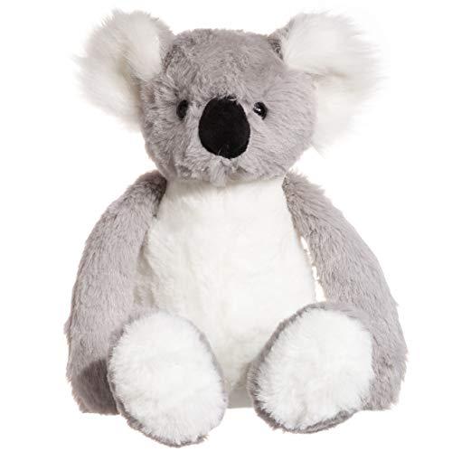 CharaHome Koala Bear Stuffed Animal Plush Toy, Grey White, Soft Cuddly, Gifts for Kids