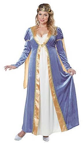 California Costumes Women's Plus-Size California Costumes Elegant Empress Renaissance Lady Long Gown Ren Faire Plus, Blue, (Royal Empress Adult Costume)