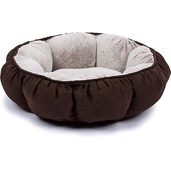 Petco Puffy Round Cat Bed in Chocolate Brown, 16″ Diameter X 5″ H, My Pet Supplies