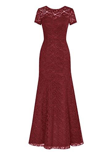 Burgundy Ad Vestito A Linea Fanciest Donna nBUTX