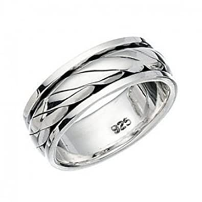 Celtic ring spinner thumb finger sterling silver 925 GxyeI