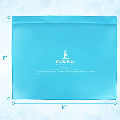 Arctic Flex Gel Ice Pack - Cold Therapy Ice Bag - Reusable Medical Freezer Pad - Hot/Heated Compress Wrap for Knee, Shoulder, Back and Ankle - Flexible, Soft & Instant (11'' x 14'') by Arctic Flex (Image #5)