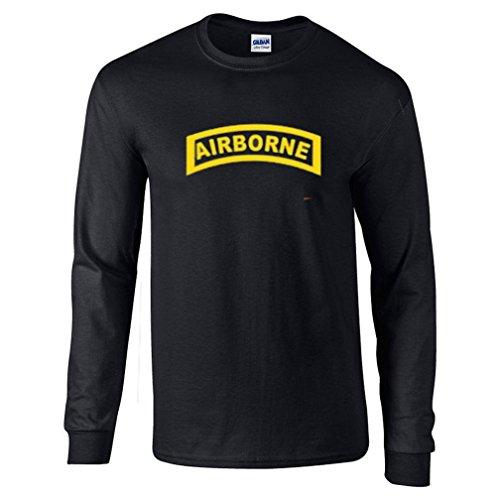 Got-Tee- US Army Airborne Men Long Sleeves T-Shirt X-Large Black ()