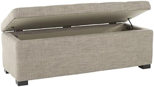 Safavieh Hudson Collection Williamsburg Grey Linen Storage Bench