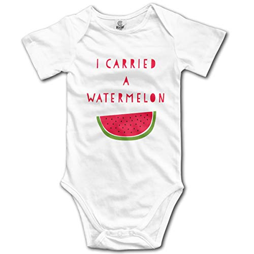 Dejup Unisex Baby Short Sleeve Bodysuits Watermelon Funny Summer Boys Girls Onesies White -