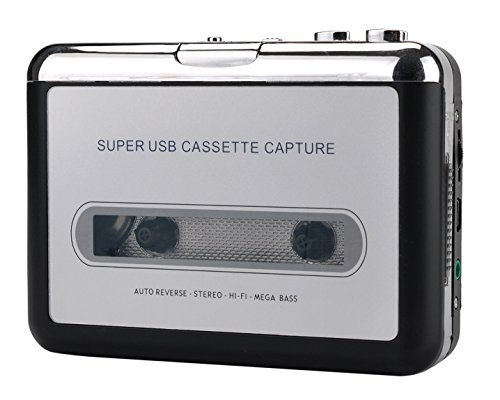 WZNANA Cassette Player, Portable Retro Tape Player, Tape to MP3 Converter Recorder via USB Compatible with Laptops Mac and Personal Computers With Earphones