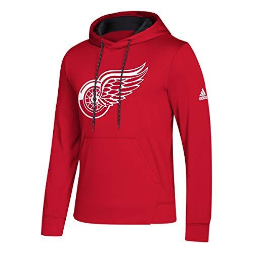 adidas Detroit Red Wings Hoodie NHL Fleece Pullover Hood - Wings Hoodie Red