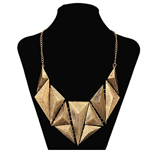 Women geometric necklace&pendents 2016 new african old gold plated choker egyptian triangle collier pendients mujer maxi bijoux (Mummy King Adult Costume)