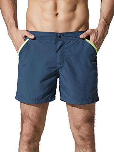 Neleus Men's Runner Athletic Board Shorts with Pockets,707,I