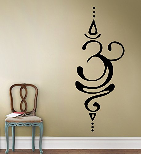 Signature Vinyl Decal - DreamKraft Om Signature Removable Wall Decor Art Stickers Vinyl Decals Home Decor for Living Room & Kids bedroom(10X26 Inch)